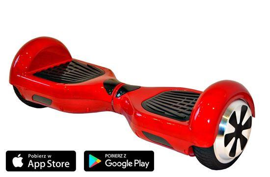 Deskorolka Elektryczna Hoverboard Classic czerwony