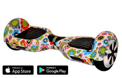 Deskorolka Elektryczna Hoverboard Classic Kwiaty
