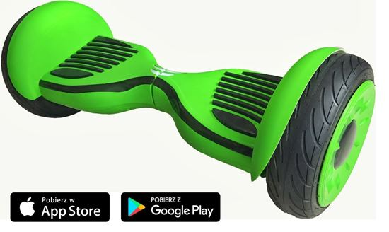 Deskorolka Elektryczna Hoverboard Allroad 10.5' Future Digital Green matte