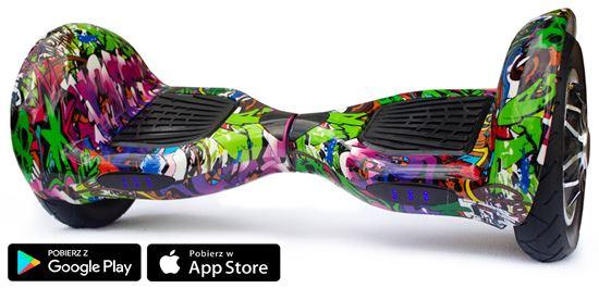 Deskorolka elektryczna Allroad 10' Digital Hip - Hop Violet